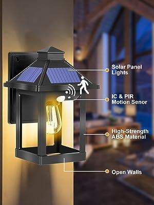 solar light with motion senor