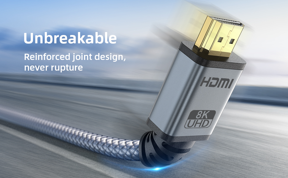 HDMI to HDMI 2.0 cable long HDMI cable for iPhone to TVakable Joint design