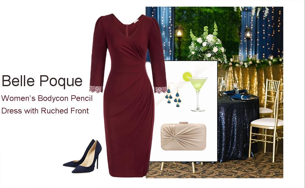 long sleeve pencil dress
