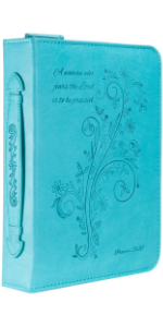 bible cover blue