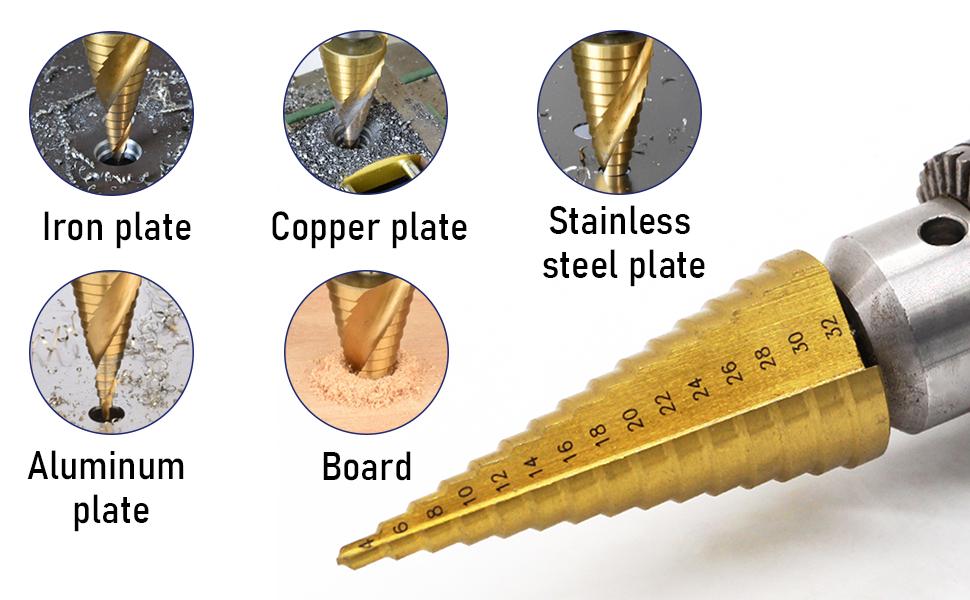 Titanium-Coated Metric Step bit
