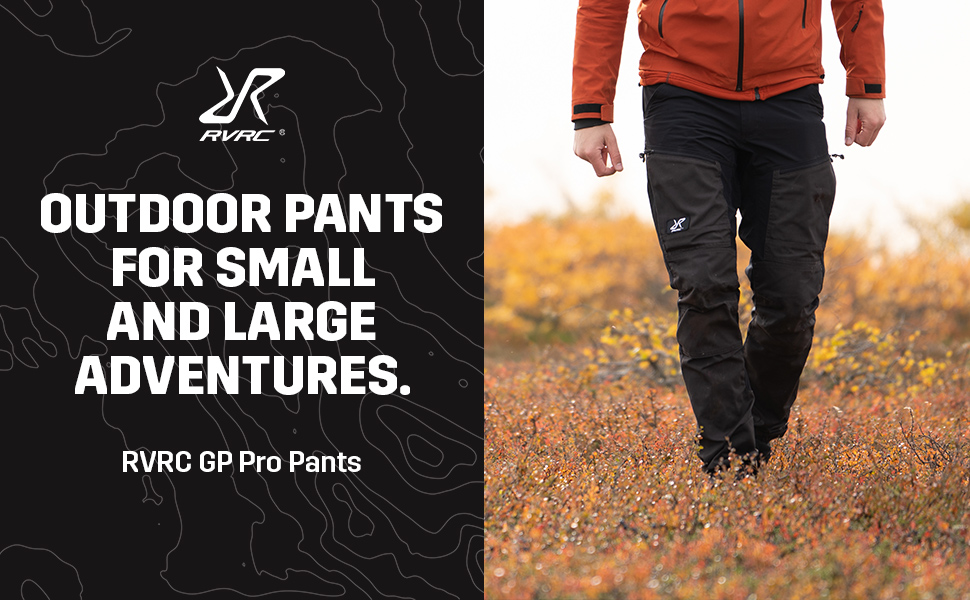 RVRX GP Pro Pants Jet Black - Outdoor pants for small and large adventure.
