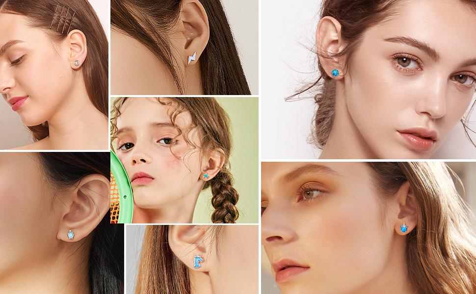 opal stud earrings for women girls kids gifts for women her birthday gifts