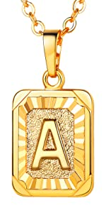 A-Z Initial Tag Necklace