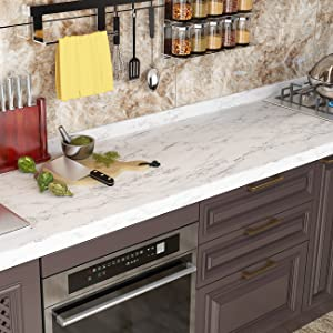 Matte Grey White Marble Contact Paper Peel and Stick Countertops Marble Wallpaper for Vanity Desk