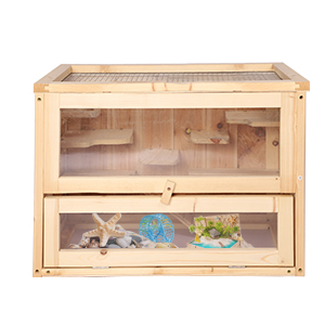 Wood Hamster Cage