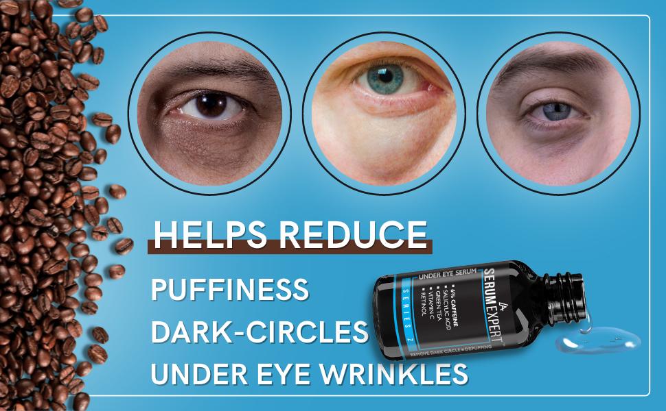 helps reduce puffiness dark circles under eye wrinkles