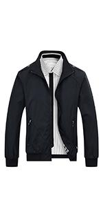 Mens casual jacket with shoulder straps