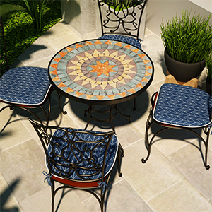 indoor/outdoor seat cushions for kitchen chairs set of 4 patio chair pad with ties black grey beige