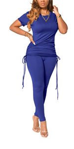 Womens 2 Pieces Outfits Sets Pullover Skinny Long Legging Pants Loungewear Tracksuit