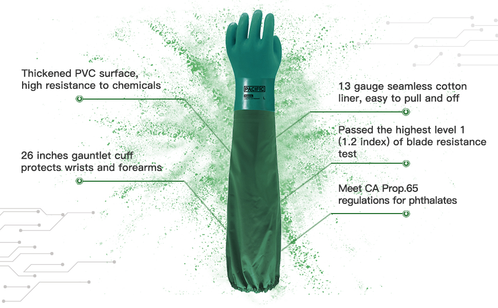 PACIFIC PPE Reusable Chemical Resistant Gloves
