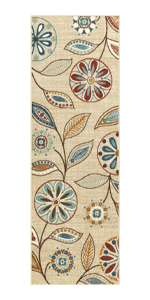 Maples rug kitchen rug non slip non skid rubber back washable entryway accent throw durable