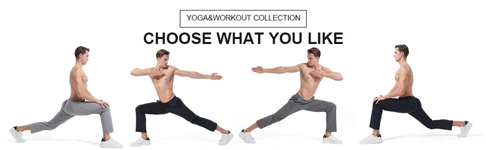 Casei Men's Yoga Sweatpants with Pockets Joggers Straight Leg Drawstring Athletic Pants…