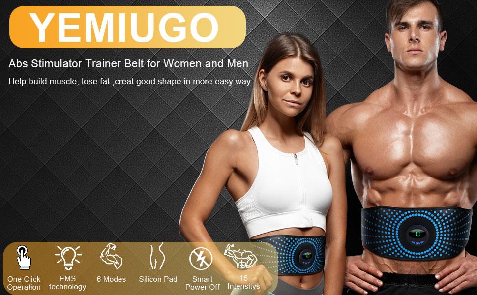 1-Abs Muscle Trainer Flex Belt for Women Men