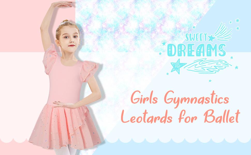 Girl's Ballet Dance Dress Classic Ballet Skirted Leotard for 3-11 Years