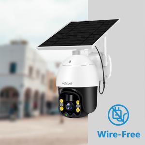 Security camera with solar panel wireless wifi camera