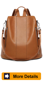 Women Leather Backpack Purse