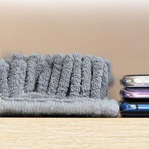 Extra long microfiber chenille bath mat