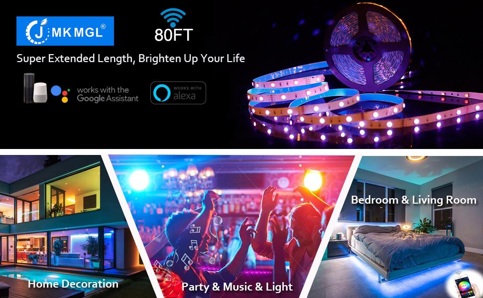 80ft led light strips