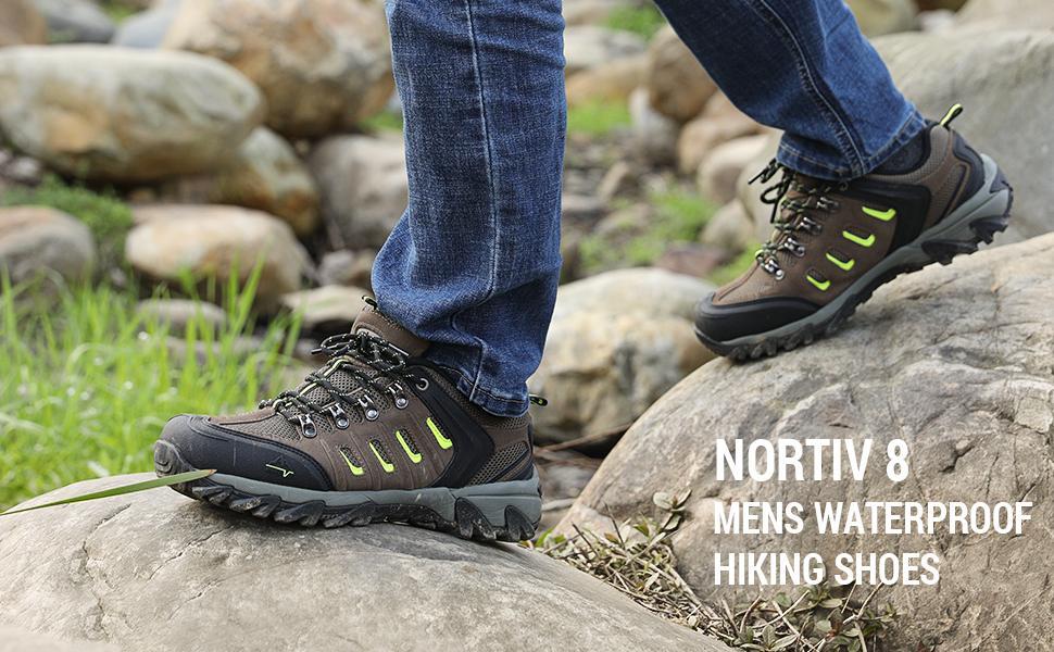 NORTIV 8 Mens Waterproof Hiking Shoes
