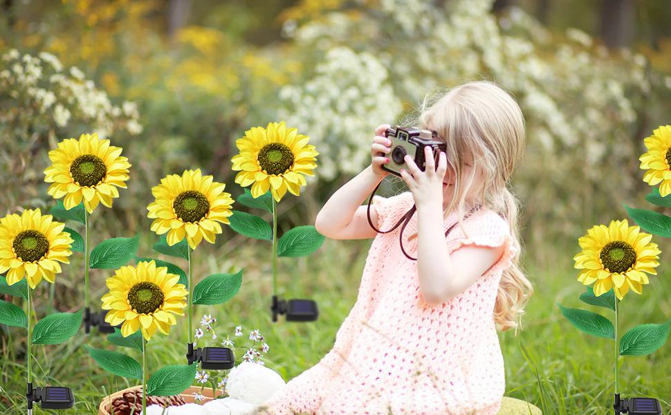 sunflower garden lights