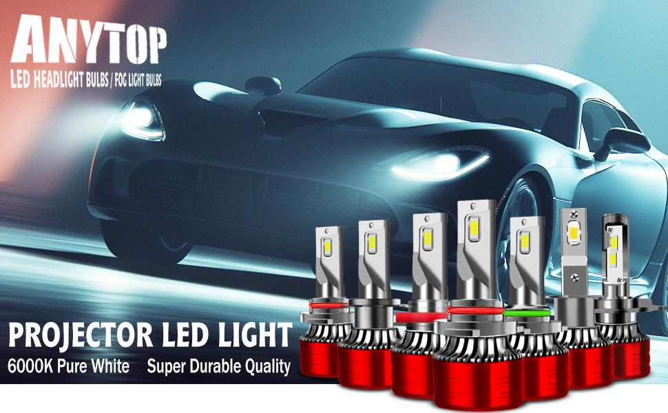 New generation led headlight replacement bulb, F5 series, super bright white