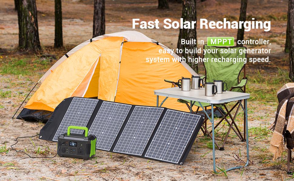 fast solar recharing generator