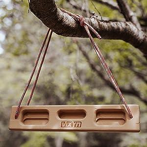 hang board for rock climbing finger strengthener