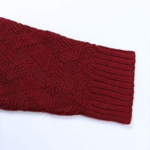 cogild long sleeve cross knit sweaters top