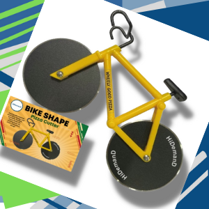 Yellow Bike Pizza Cutter with Gift Box