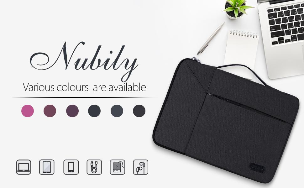 NEWHEY Polyester Fabric Multifunctional Laptop Sleeve Briefcase Handbag