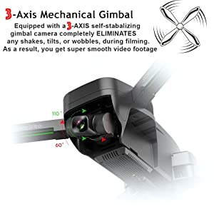 Drone with 3-Axis Gimbal Camera