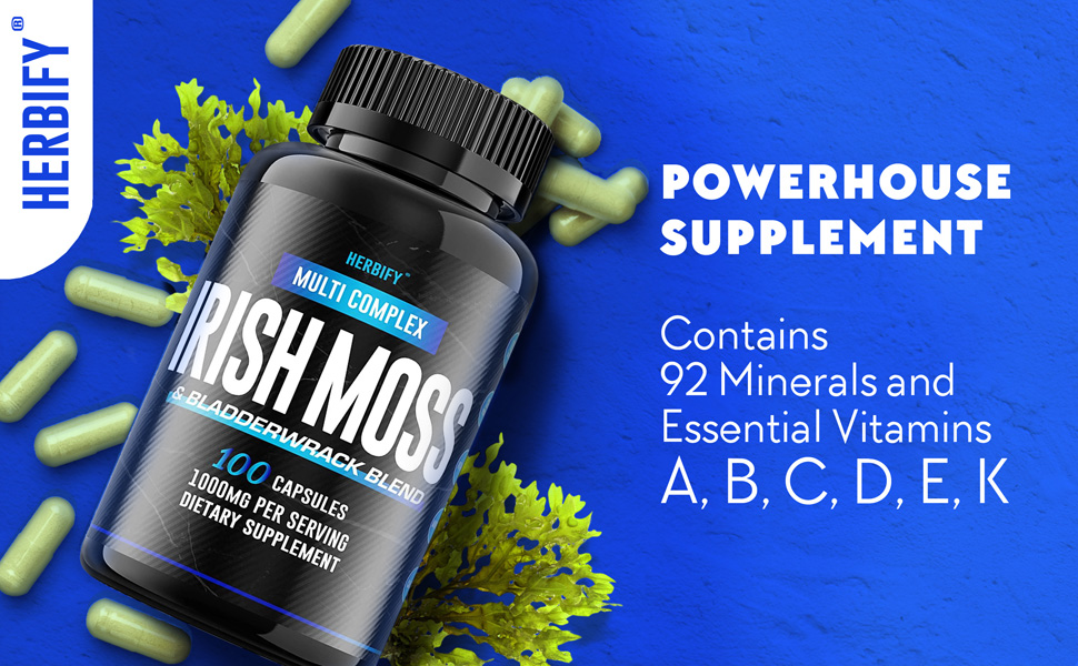 Powerhouse Supplement. Contains: 92 Minerals and Essential Vitamins A,B,C,D,E,K