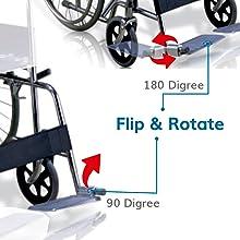 Aluminum flippable footrests