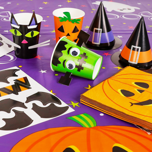 Halloween Cups and DIY Stickers