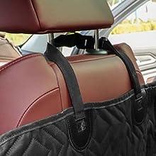 FEANDREA Dog Car Seat Cover Adjustable Straps