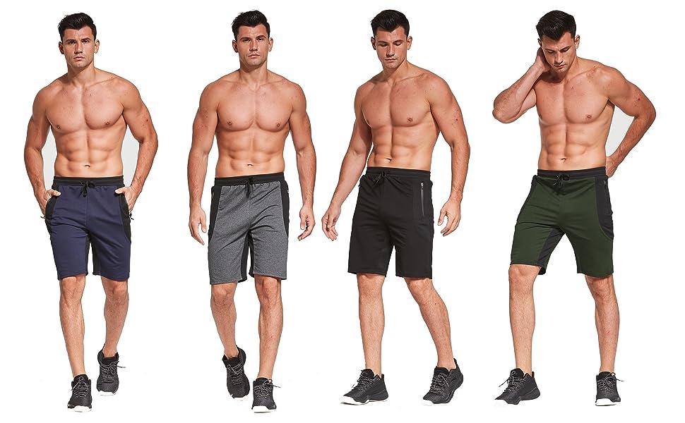JustSun mens summer sports running cotton gym shorts