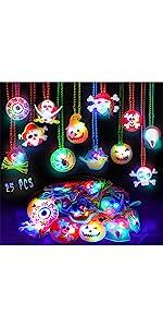 25 PCS Halloween Light Up Necklaces B091HWPHG4
