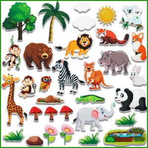 Jungle Animals felt board for toddlers kids (1)
