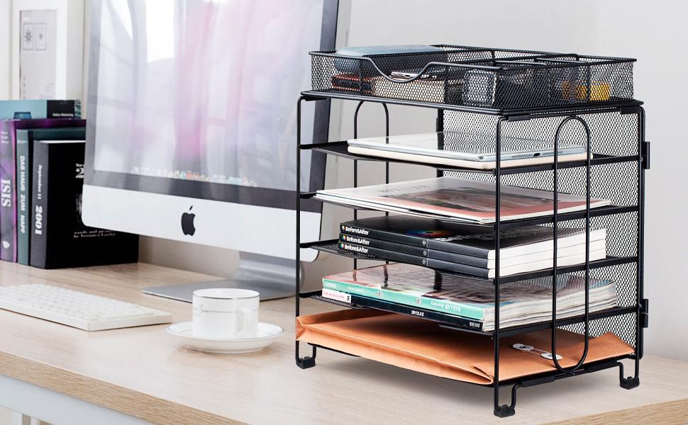 paper tray desk organizer