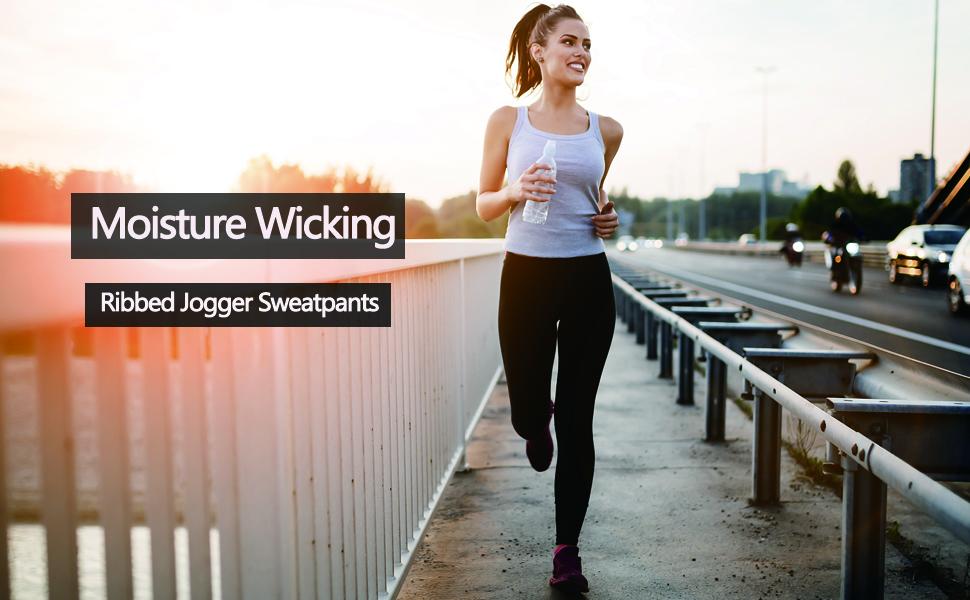 ribbed jogger pants