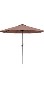 9 ft Patio Umbrella (Brown)