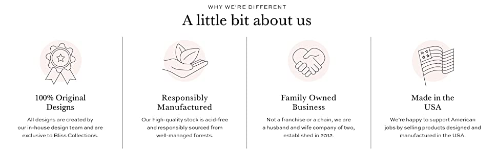 About Us - Original Designes, Family Owned, Printed in the USA