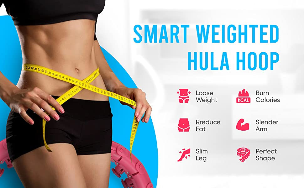 smart weighted hoola hoop exercise fitness equipment weight loss