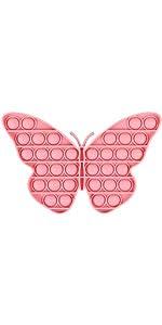 Push Pop Bubble Sensory Fidget Toy Pink Butterfly