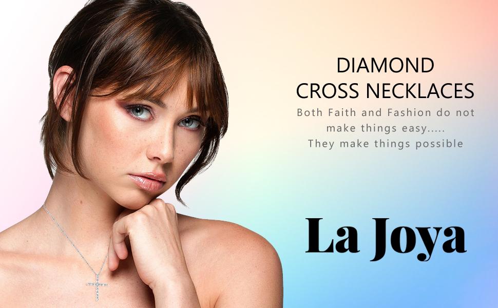La Joya Diamond Cross Necklace diamond cross necklace for women diamond cross necklace diamond cross