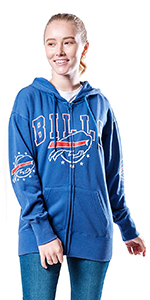 NFL Women's Banner Full Zip Fleece Hoodie Sweatshirt