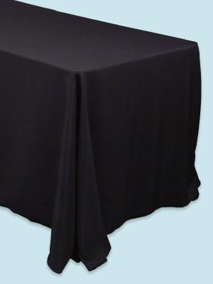 Black Rectangular Polyester Tablecloth