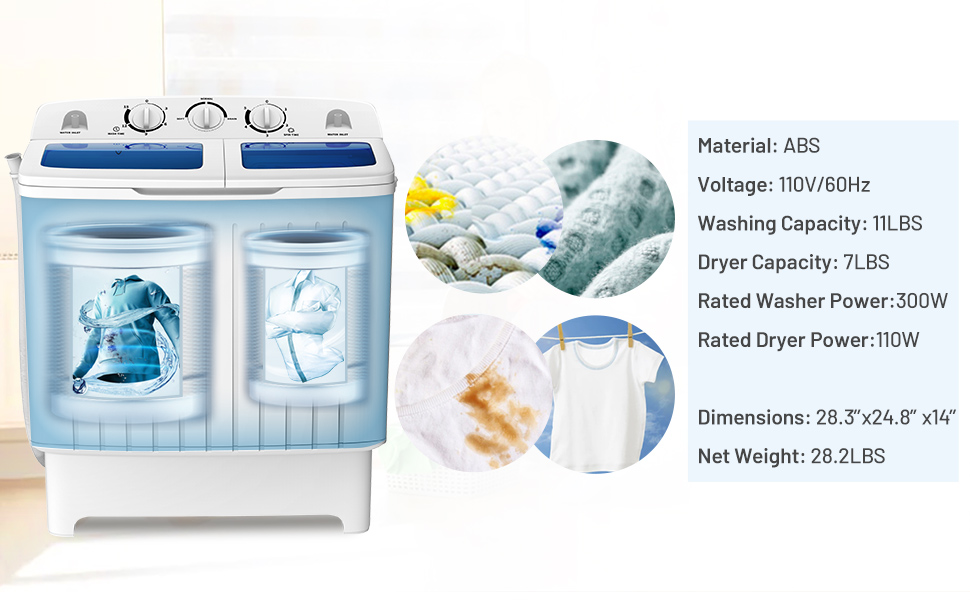 twin tub washer and dryer