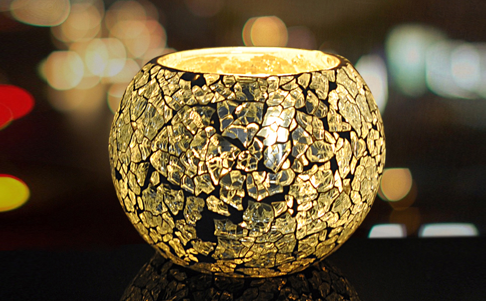 Candle Holder Mosaic Candle Holder Event Party Wedding Decoration Votive Lights Tea Light